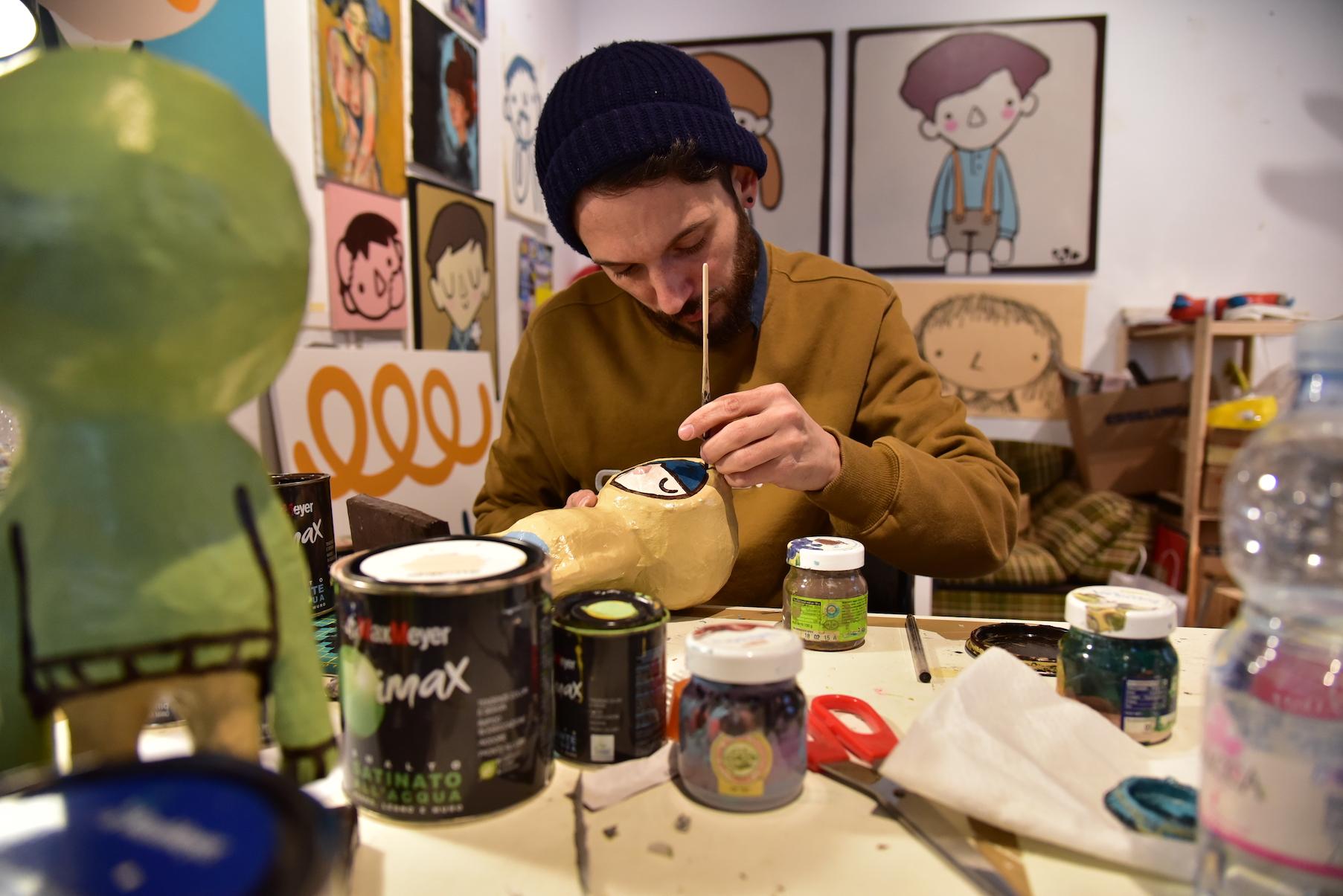 Ale Puro in his studio.