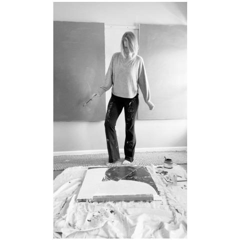 Laura Dargon in her studio