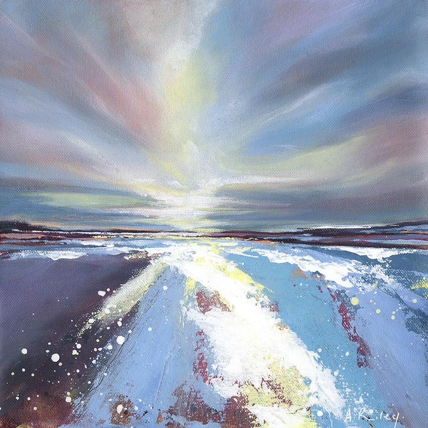 Adele Riley, The Waters of Beautiful Saunton, 2019, £285, HK$3,036, acrylic, original, Wychwood Art