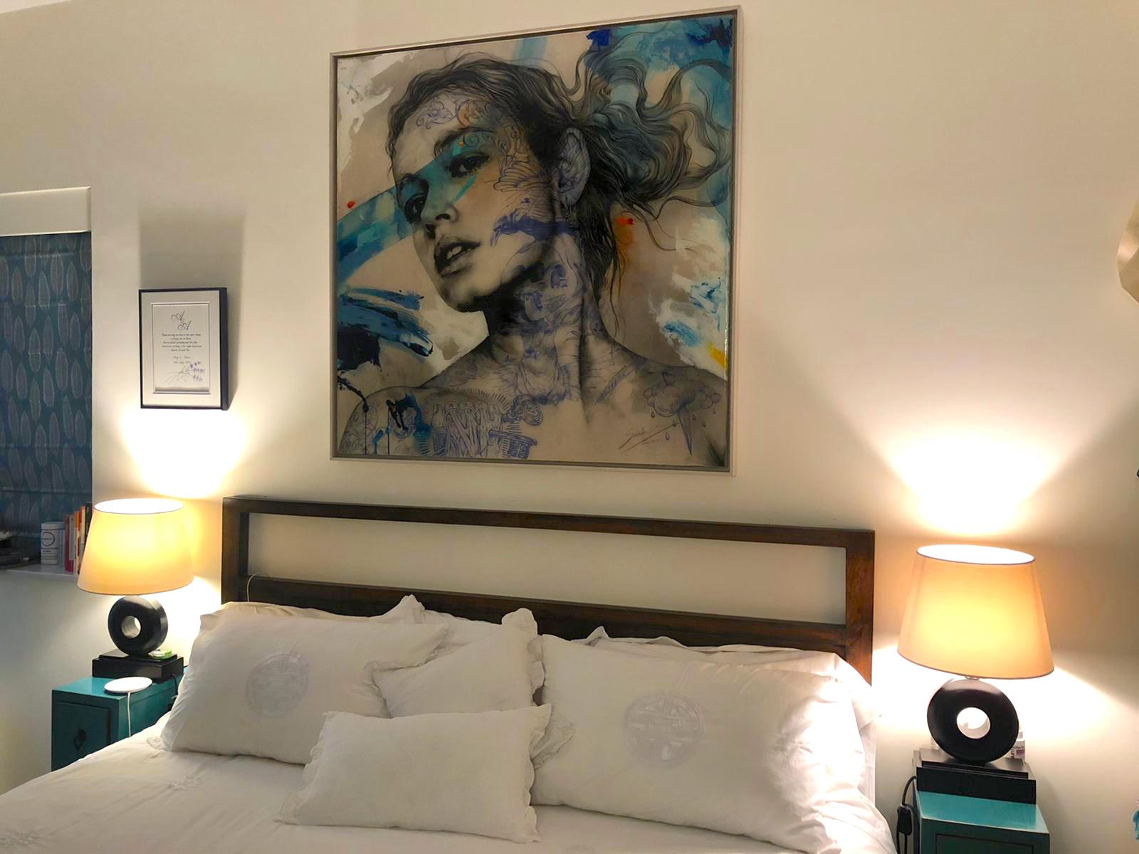 An artwork in Amy's home