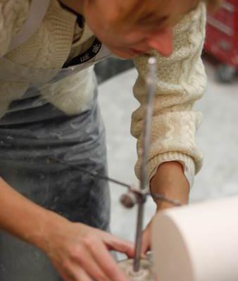 Anke Buchmann in the studio