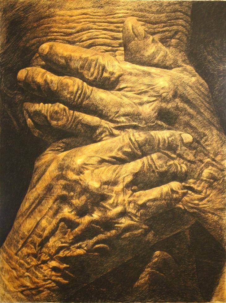 Arts de Siam_Jirasak Anoujohn_Age M_2018_Charcoal_110x150cm_HKD 49000 - Toey Hemjun