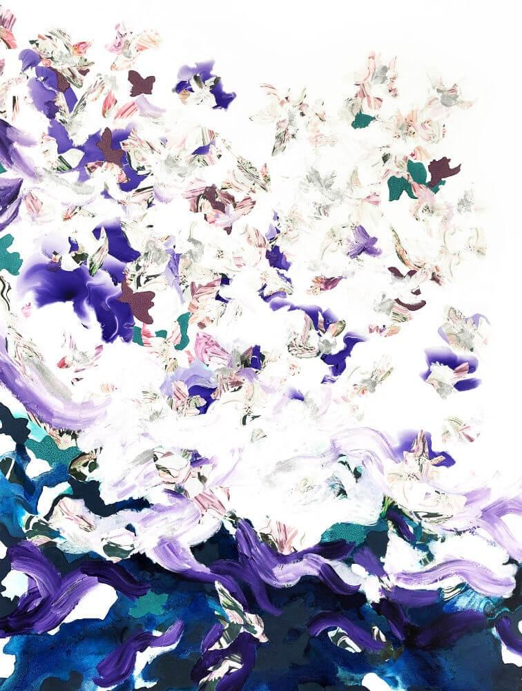 Corinne Natel, Efflorescence #3, 2019, £1800, acrylic, original, Caiger Contemporary Art