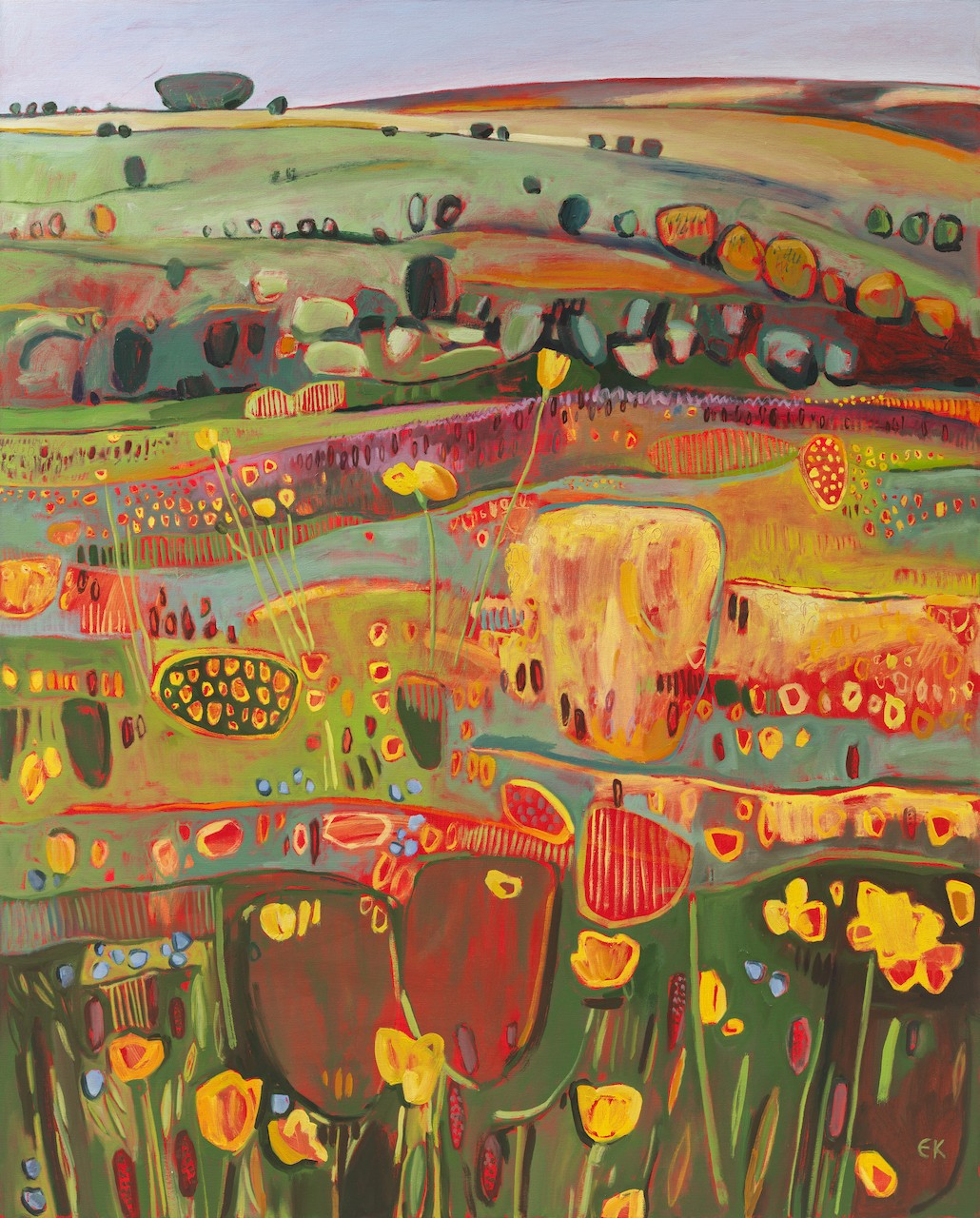 Elaine Kazimierczuk, Buttercups and Speedwells, 2019, £4,200, HK$42,385, oil, original, Wychwood Art