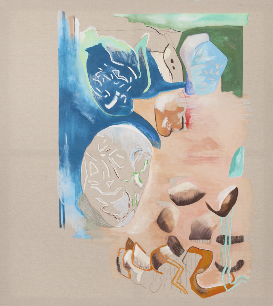 Florentijn de Boer How happy is the little stone 2019 Oilbar on canvas 180 by 160 cm
