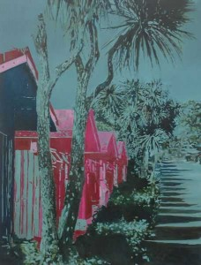 """Annette Pugh's """"Riviera Bay"""" courtesy of Gala Fine Art."""