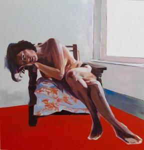 """Clare Bonnet's """"Wallowing in the Wait"""" courtesy of Gala Fine Art."""