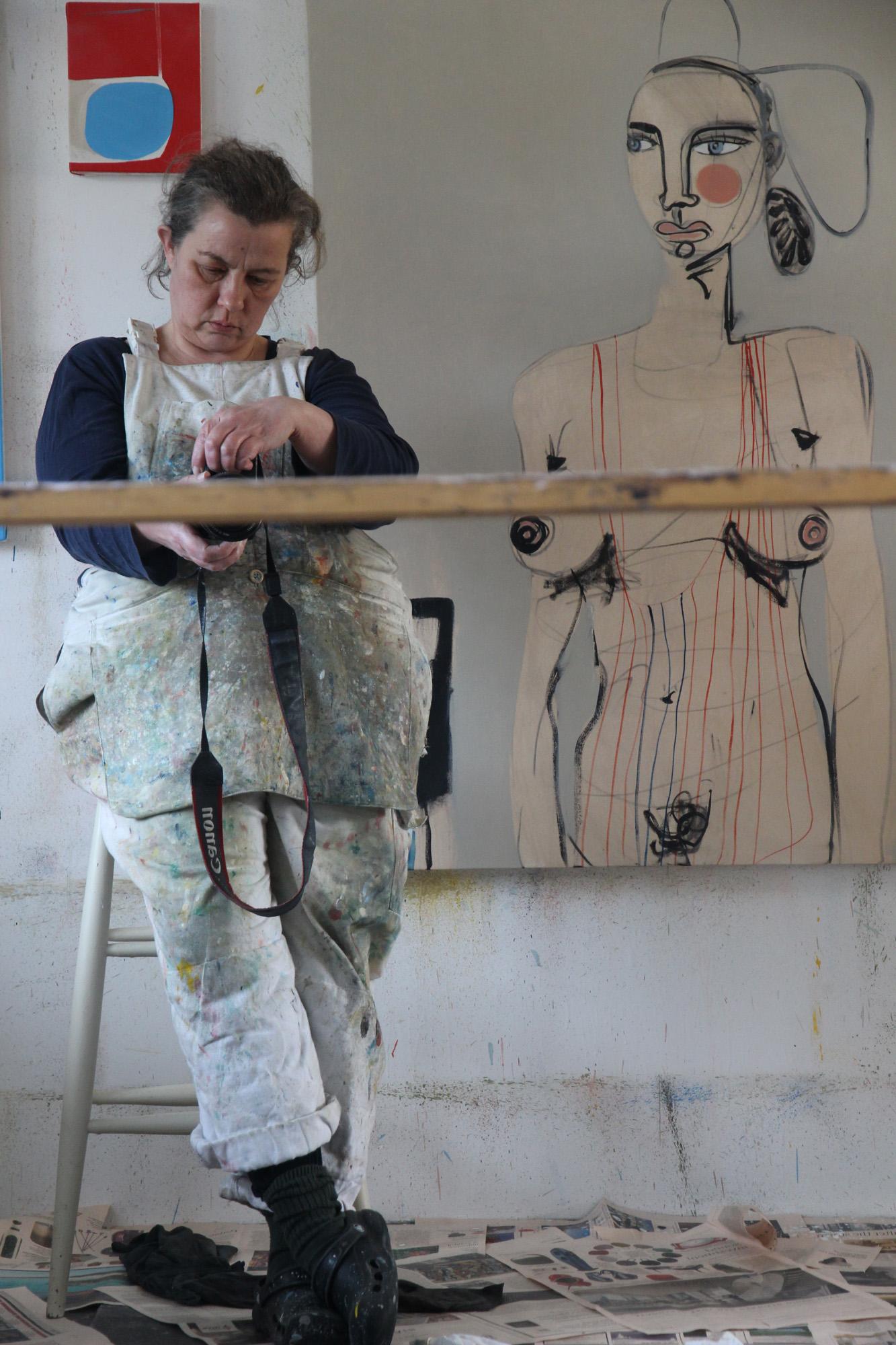 Henrietta Dubrey in her studio