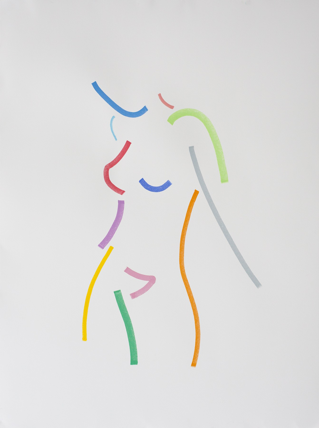 Hock Tee Tan, Standing Nude Colour, 2019, Pastel, 1080 x 820cm, €2225, The HUX Gallery, D16