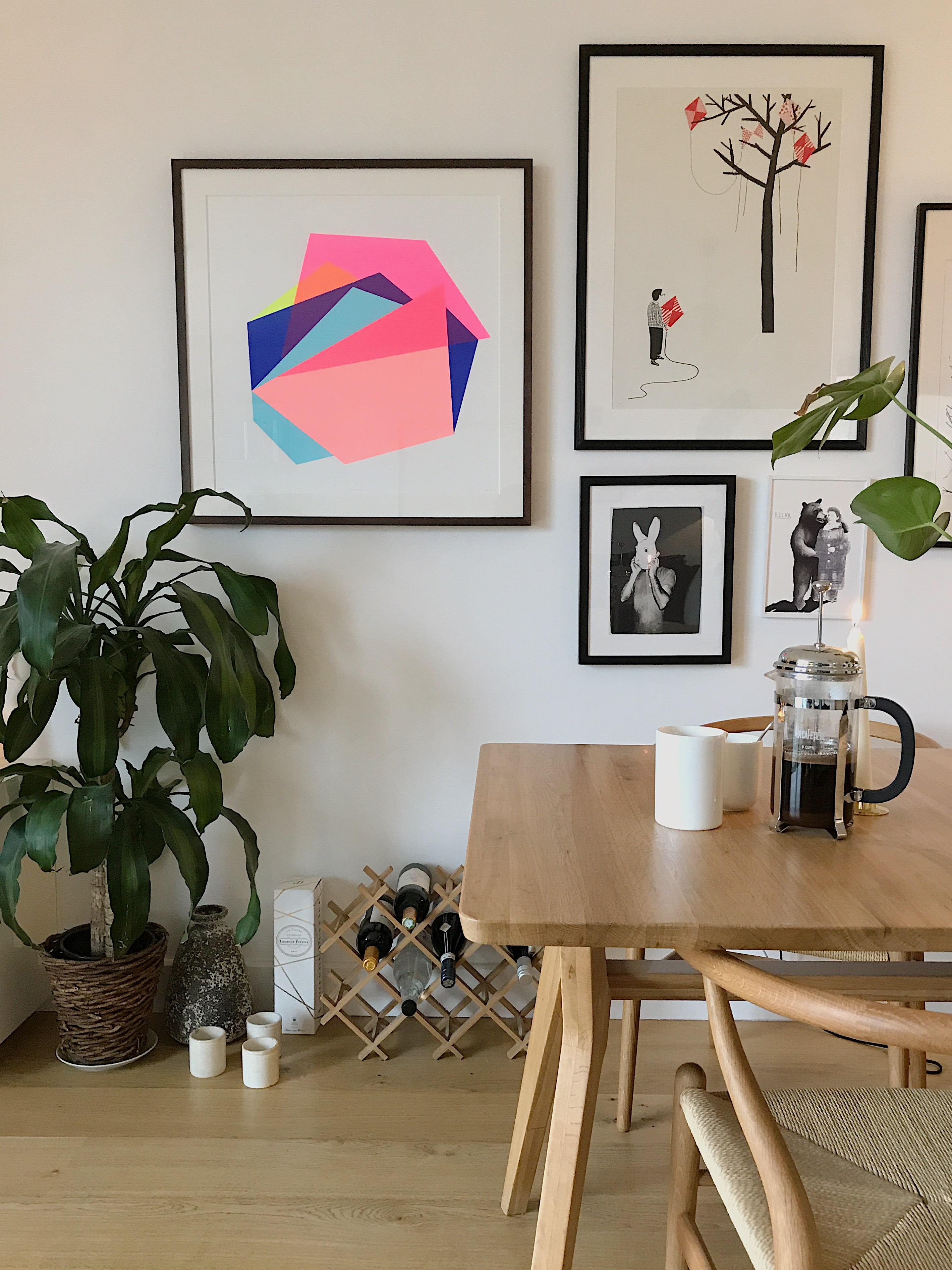 Holly Selby's home, featuring artwork by Frea Buckler