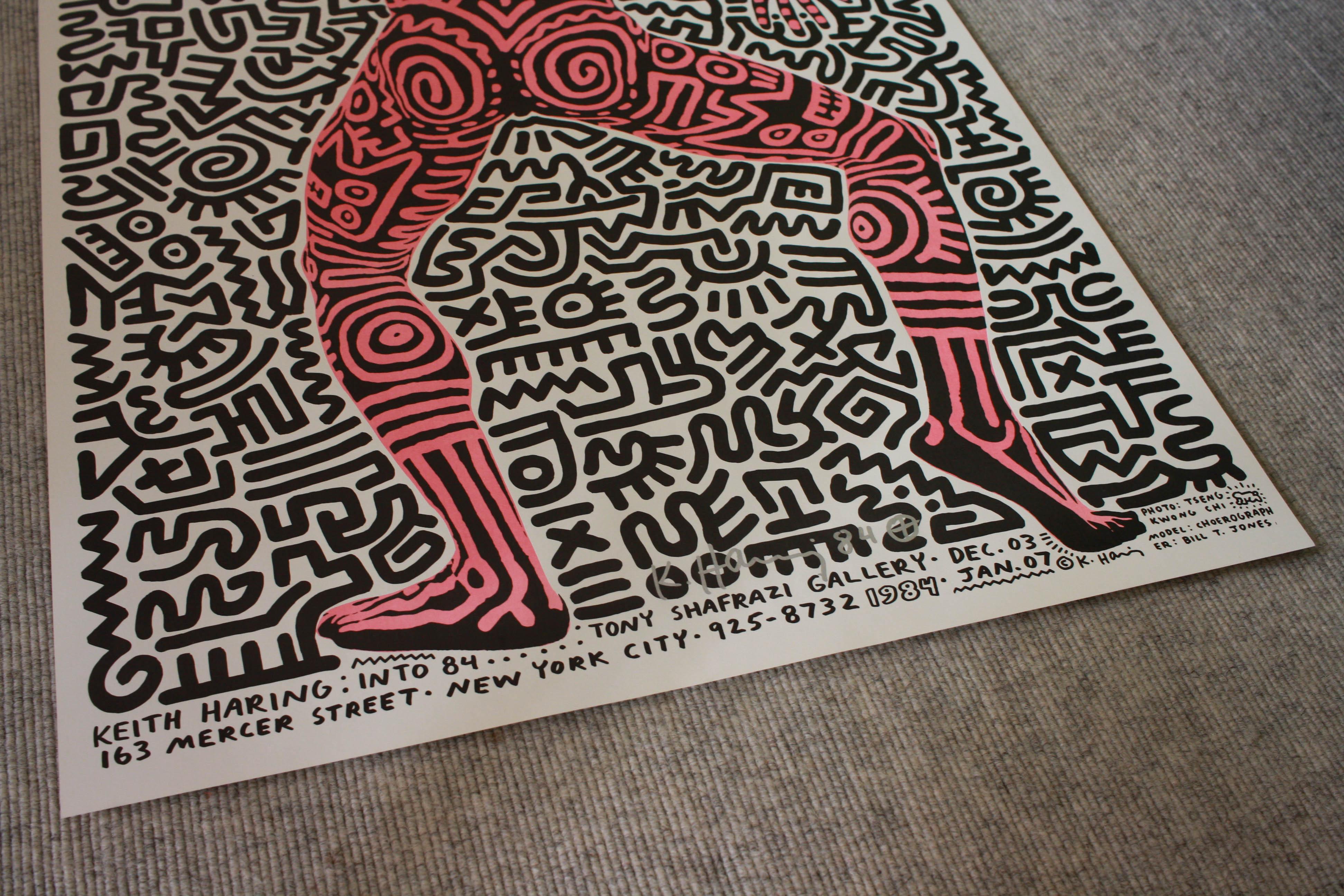 Keith Haring Print, Tony Shafrazi Gallery