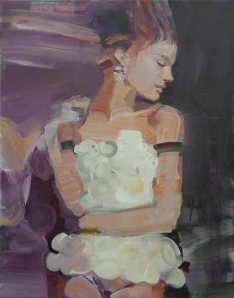 Izabella Chulkova, 'Maedchen in Weiss', 2015, 50 x 70 cm, Oil on Canvas, €1800, galerie luzia sassen