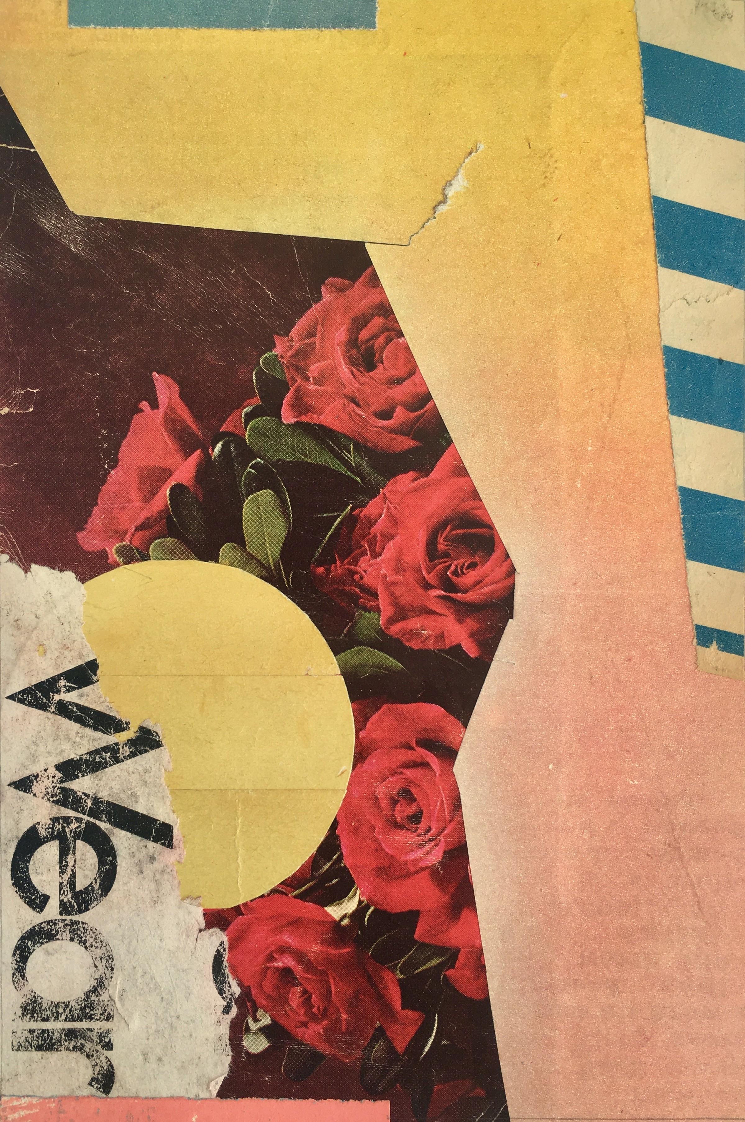 Kareem Rizk, Roses, 2019, £250, collage, original, Smithson Gallery