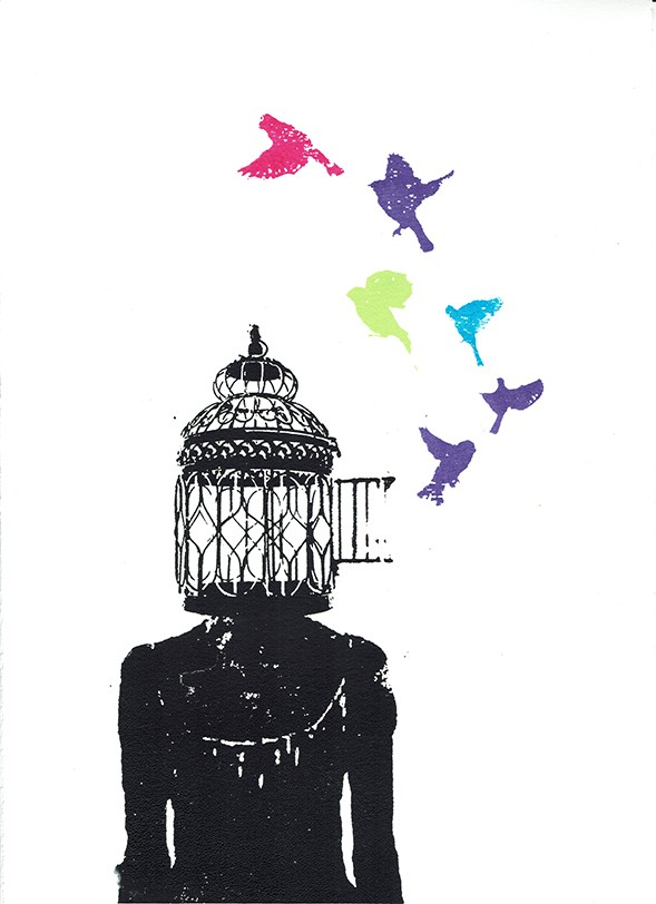Katie Edwards, Free your mind, 2017, £80, silkscreen print, Wychwood Art