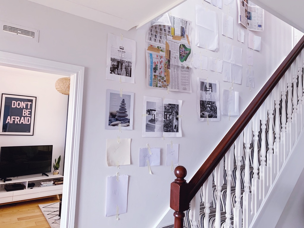How to layout a staircase gallery wall