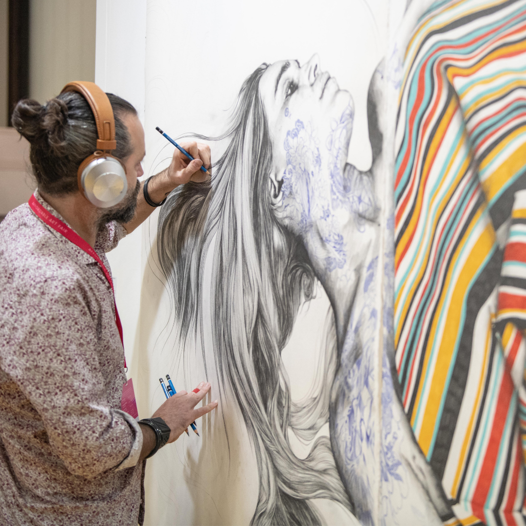 Live art and performances at the Opening Night of Affordable Art Fair Melbourne