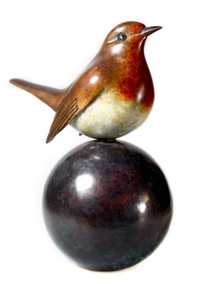 Matt Duke, Robin, 2016, £2,500, HK$28,000, bronze, limited edition of 12, Urbane Art Gallery