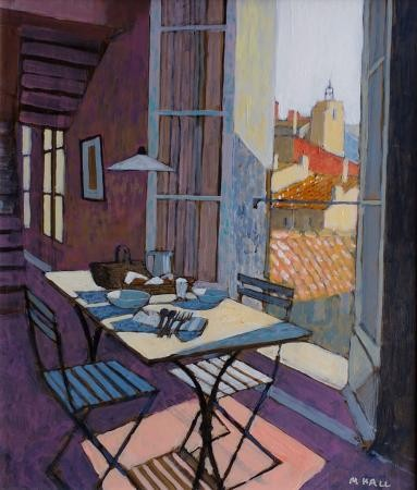 Mike Hall, Table Laid For Lunch, 2018, £795, acrylic, original, London Contemporary Art