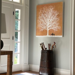 Ruthie's painting 'Petrichor XV' by Henry Walsh, Fine Art Consultancy London & Tokyo