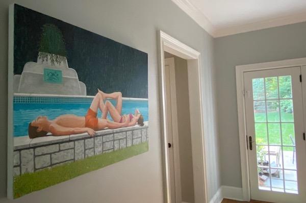 Ruthie's painting 'Venice Pool II' by Karen Lynn, Fine Art Consultancy London & Tokyo