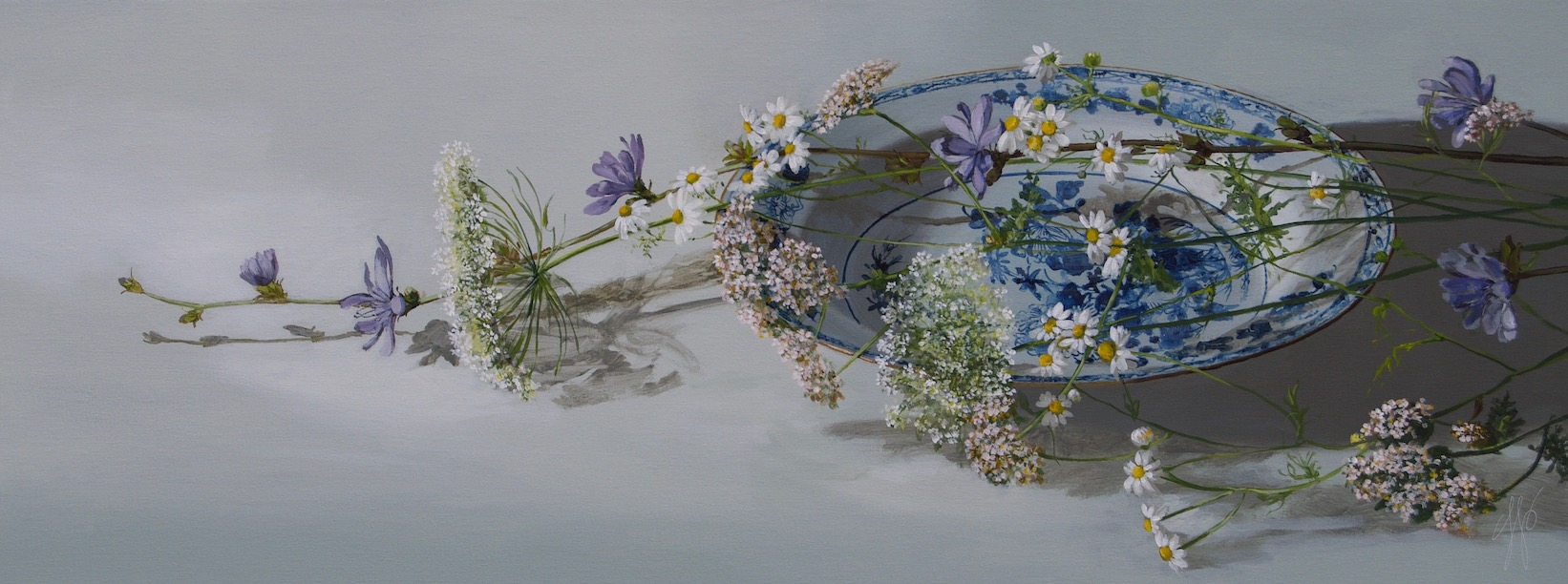 Sasja Wagenaar, Wildflowers, 2019, Acrylic on Canvas, 60 x 160 cm , €5.200, De Kunstsalon