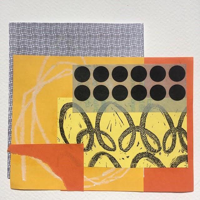 Shazwany Aziz, Lucid Series II, 2018, mixed media collage on paper, 15 x 15 cm, SGD99