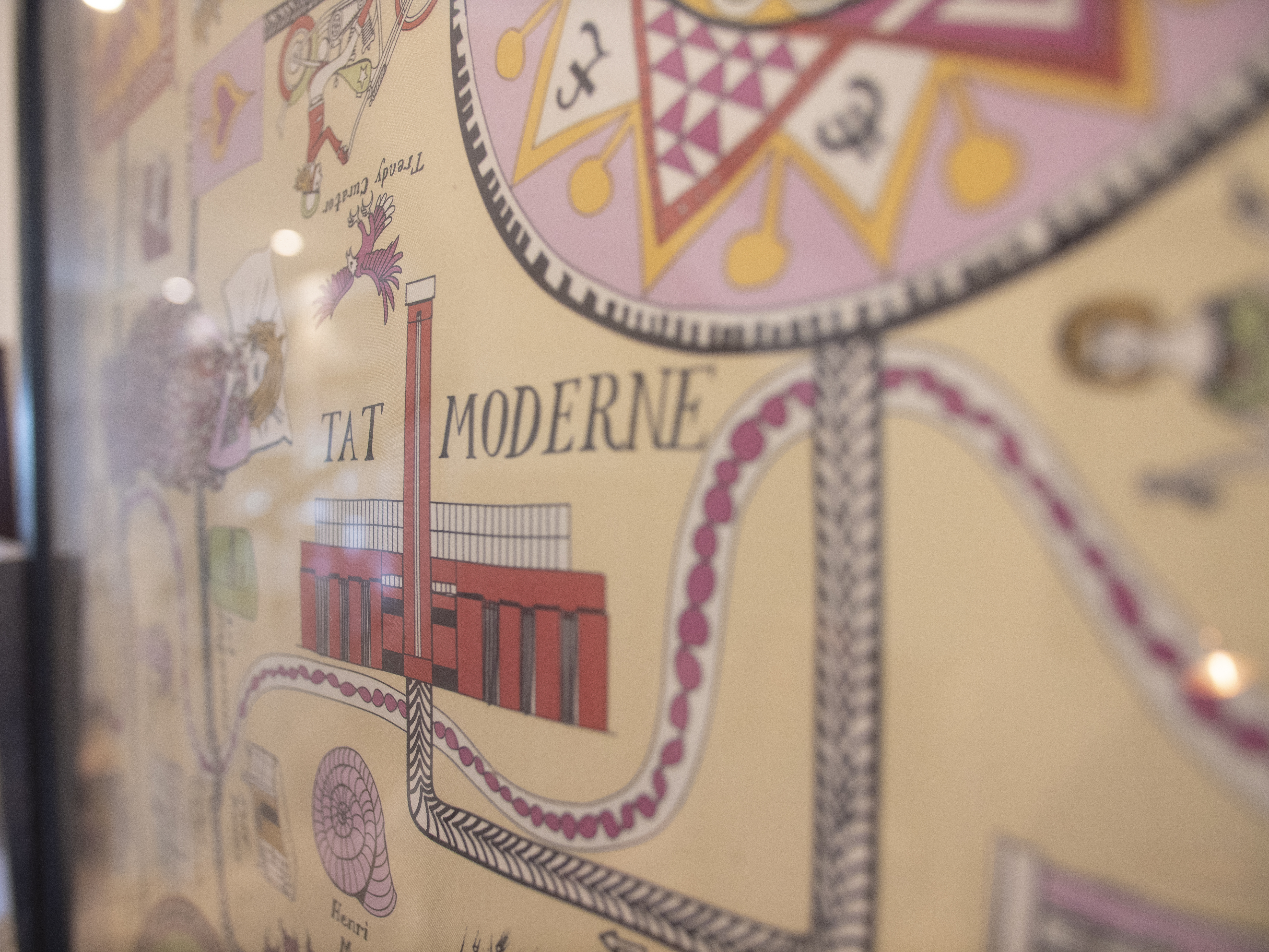 Silk scarf designed by Grayson Perry