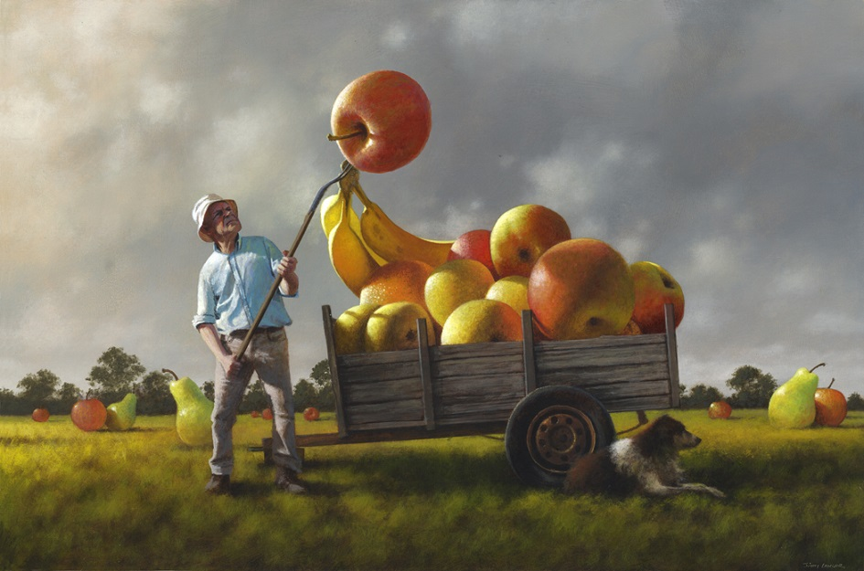 Sol Art Gallery-Jimmy Lawlor-The Fruits of Labour-40 x 60cm-Acrylic On Board-2018-$49250 - Sol Art Gallery