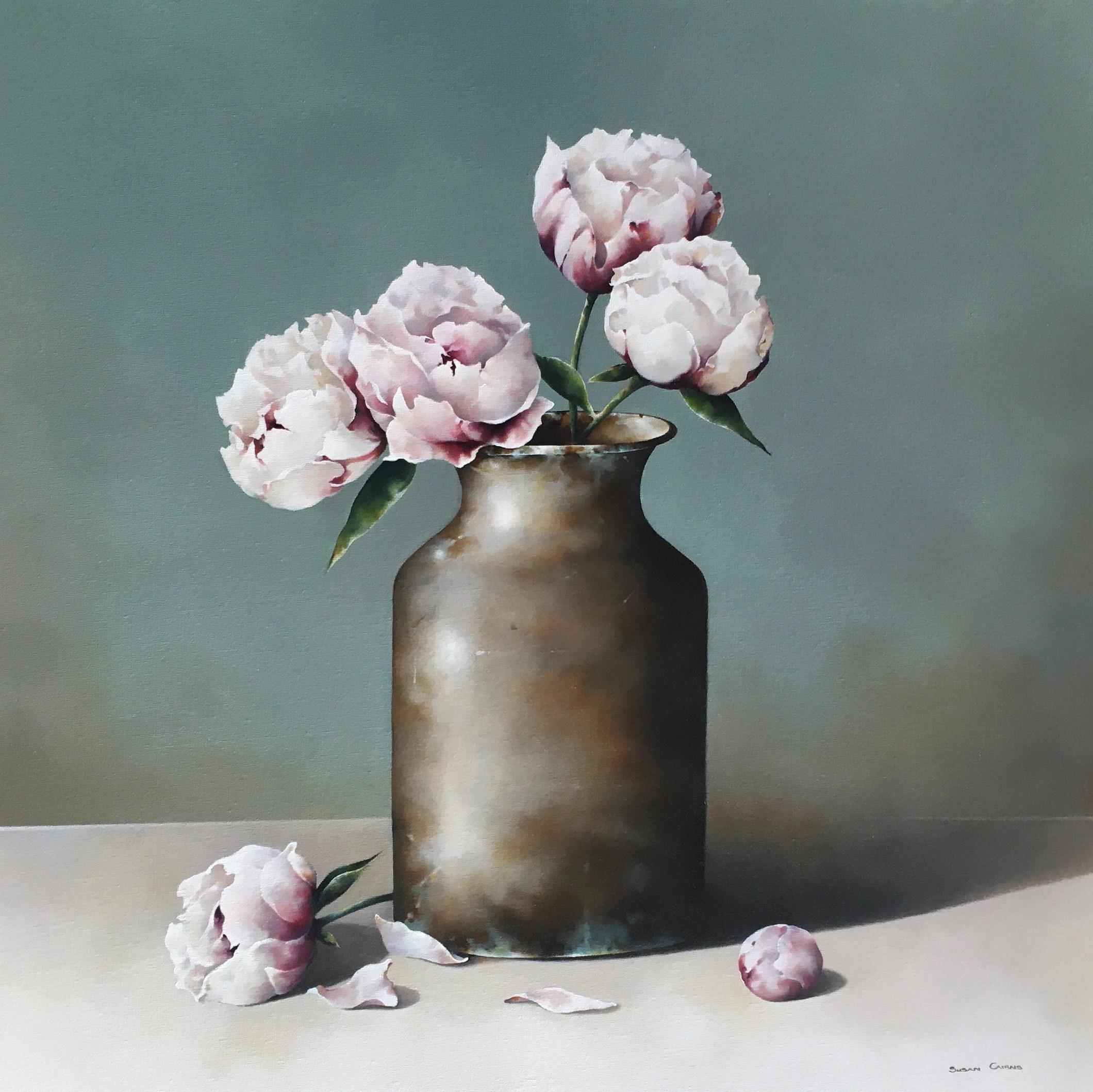 Susan Cairns, Peonies, 2020, £2450, oil, original, The Art Agency