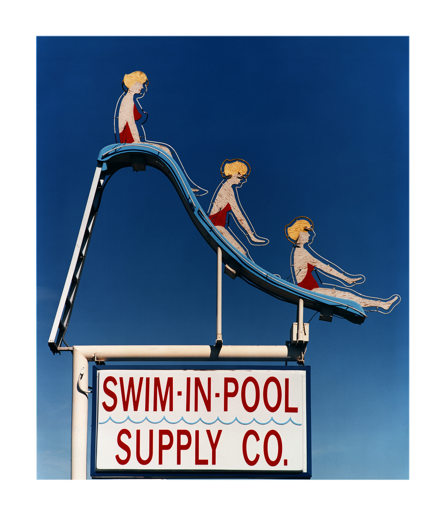 Richard Heeps, Swim-in-Pool, 2001, c-type, limited edition of 10, framed, £1295, Bleach Box