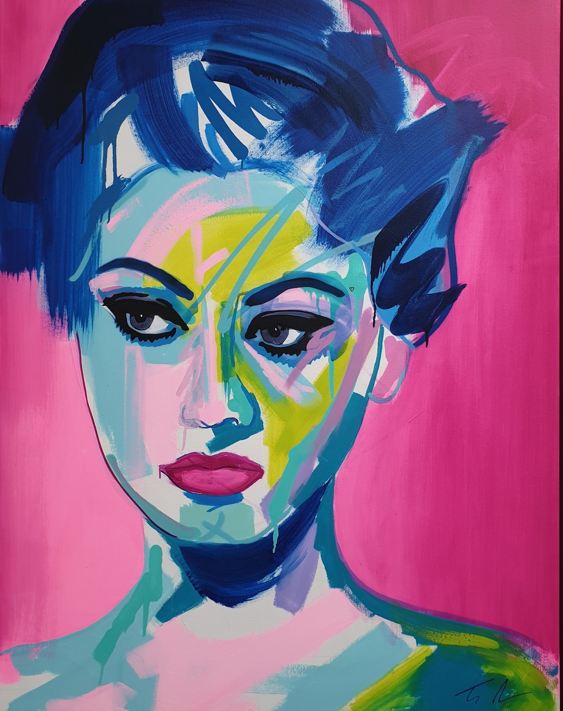 Tim Fowler, Sophia Loren, 2020, mixed-media, original, £4500, StudionAme