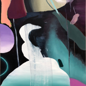 Keith Teo-something something leaking (2018)-Oil on canvas-100 cm x 75 cm- Photo courtesy of the artist and Visual Arts Development Association