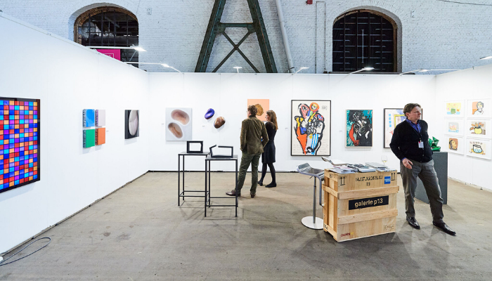 The Galerie p13 stand at Affordable Art Fair Brussels, 2019.