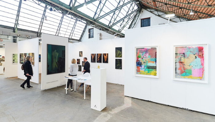 The Artelli Gallery stand at Affordable Art Fair Brussels, 2019.