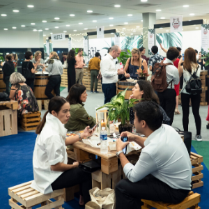 Visitors to Affordable Art Fair Brussels 2018