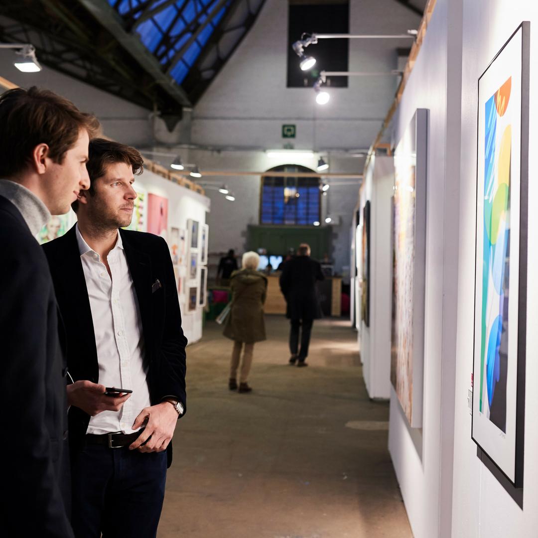 Visitors at Affordable Art Fair Brussels 2018