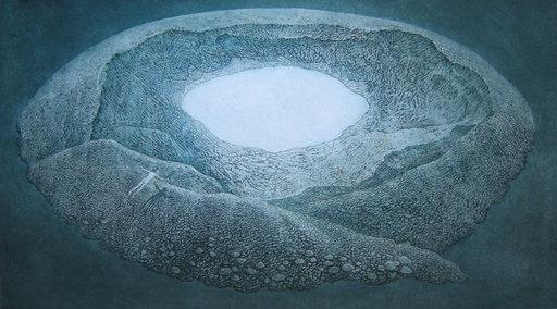 Yolanda Eveleens, 'The White Hole', 2017, Colour Etching, 27 x 49 cm, € 355, Aurora Art