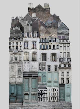 Anastasia Savinova, Brussels, architecture photo collage