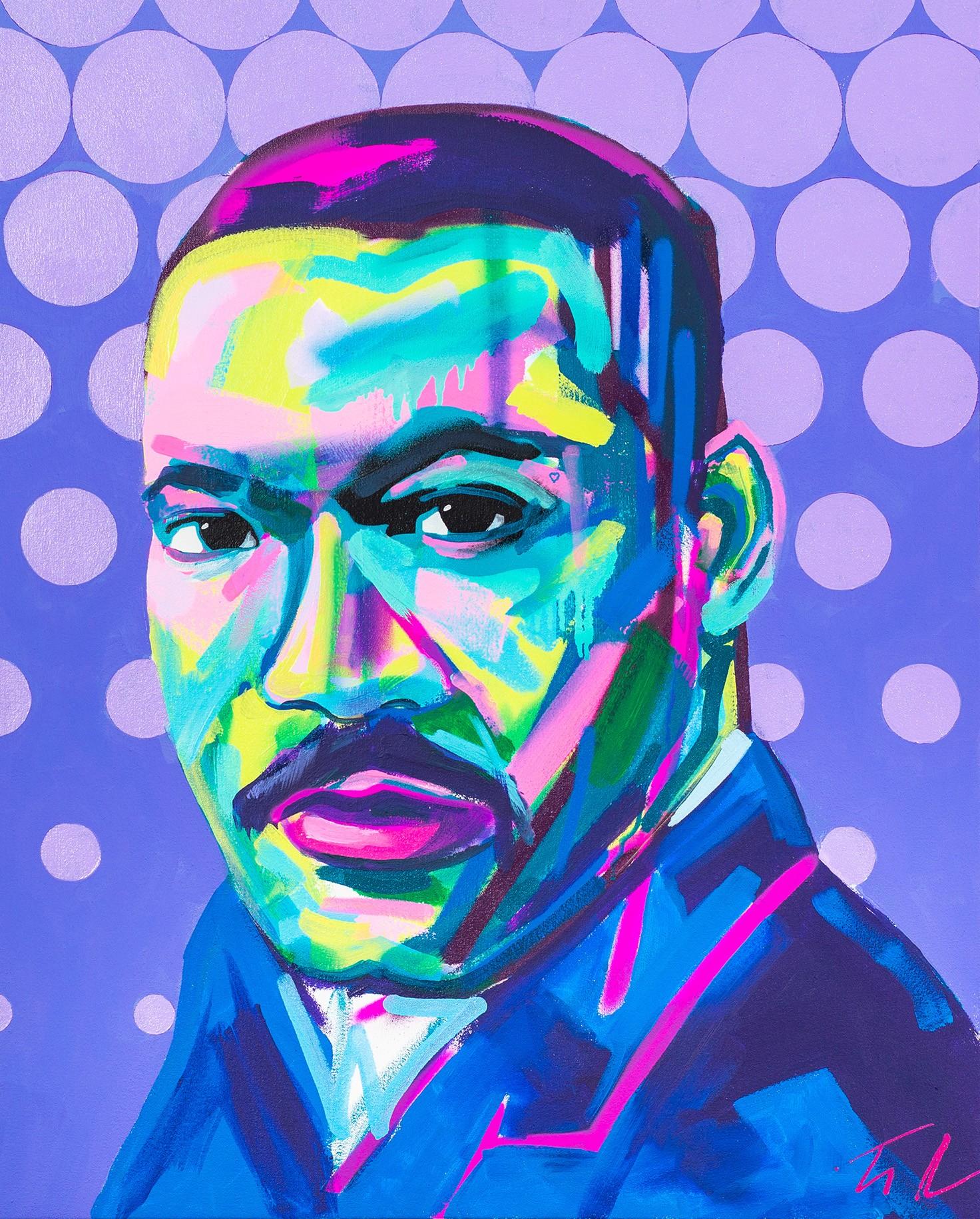 MLK by Tim Fowler, mixed-media, £1,750, StudionAme