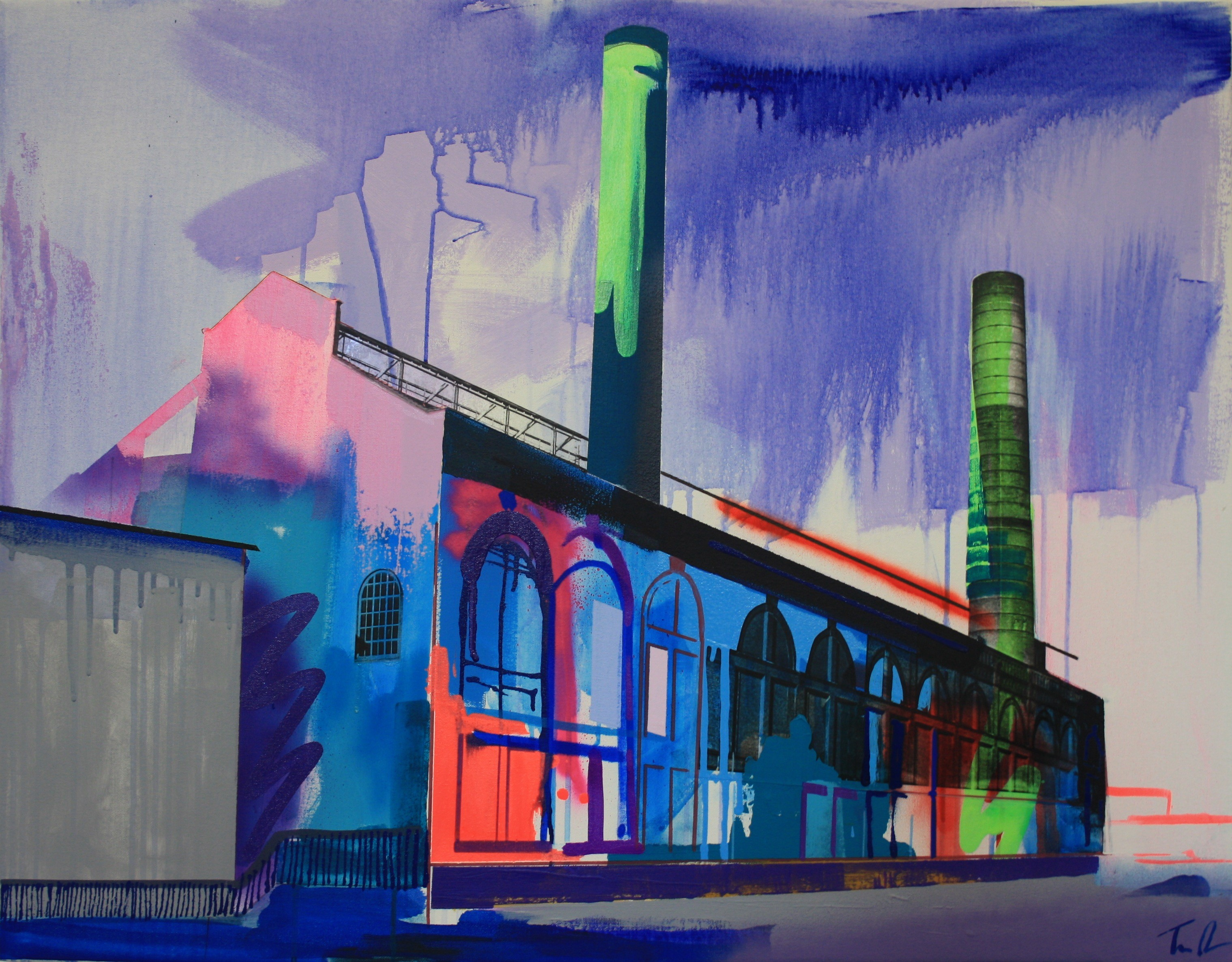 Chelsea Flour Mill by Tim Fowler, mixed-media, £1,750, StudioAme