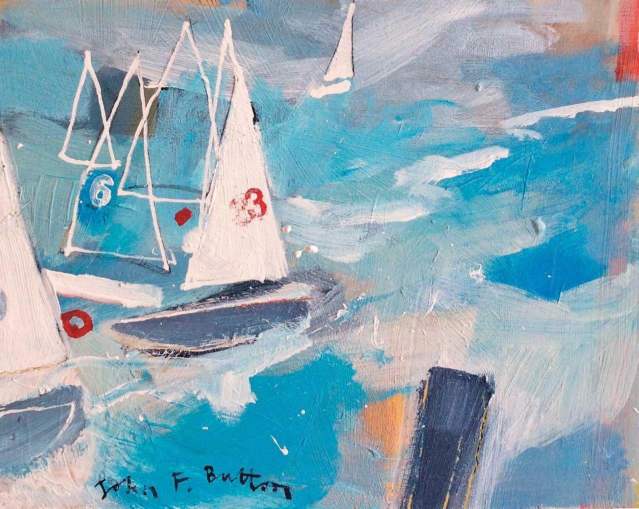 john-button-regatta-study-ii-white-space-art