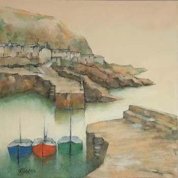 Michael Praed, Harbour shapes, summer morning