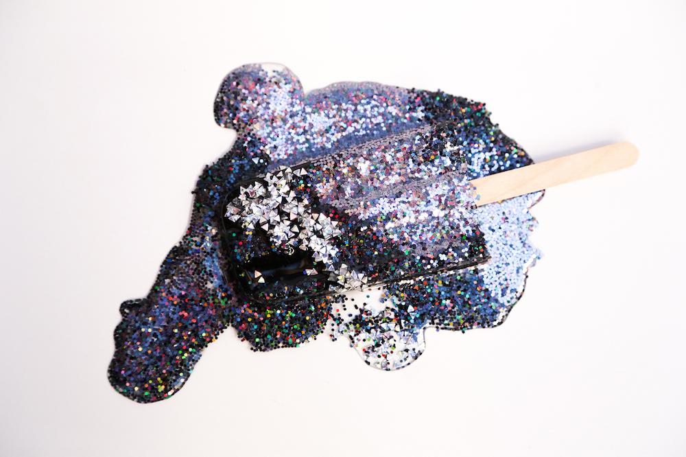 Betsy Enzensberger, Black Silver Glitter Bomb, Retrospect Gallery
