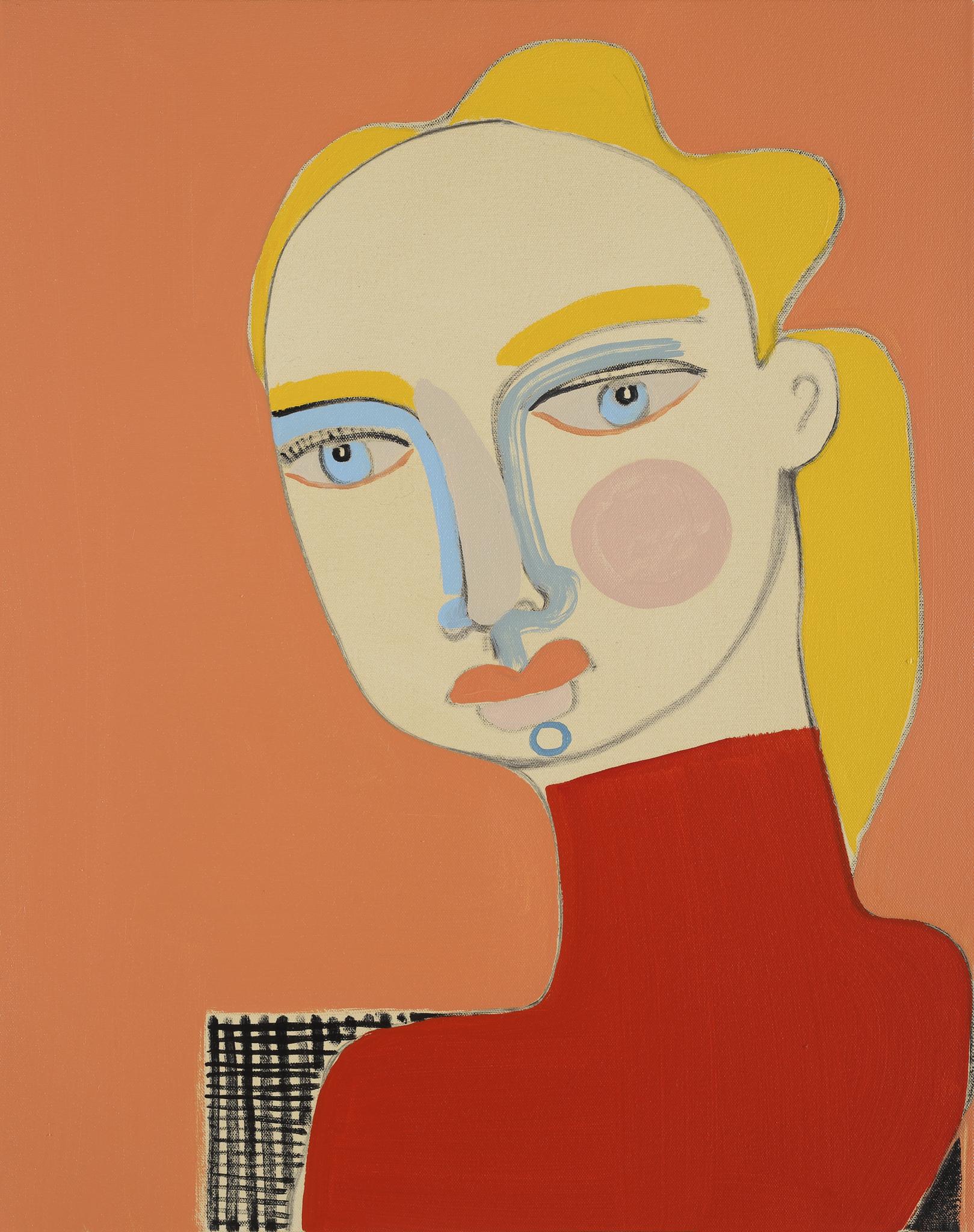Henrietta Dubrey, The Girl, oil on canvas, 48 x 38 cm, £1395, Edgar Modern